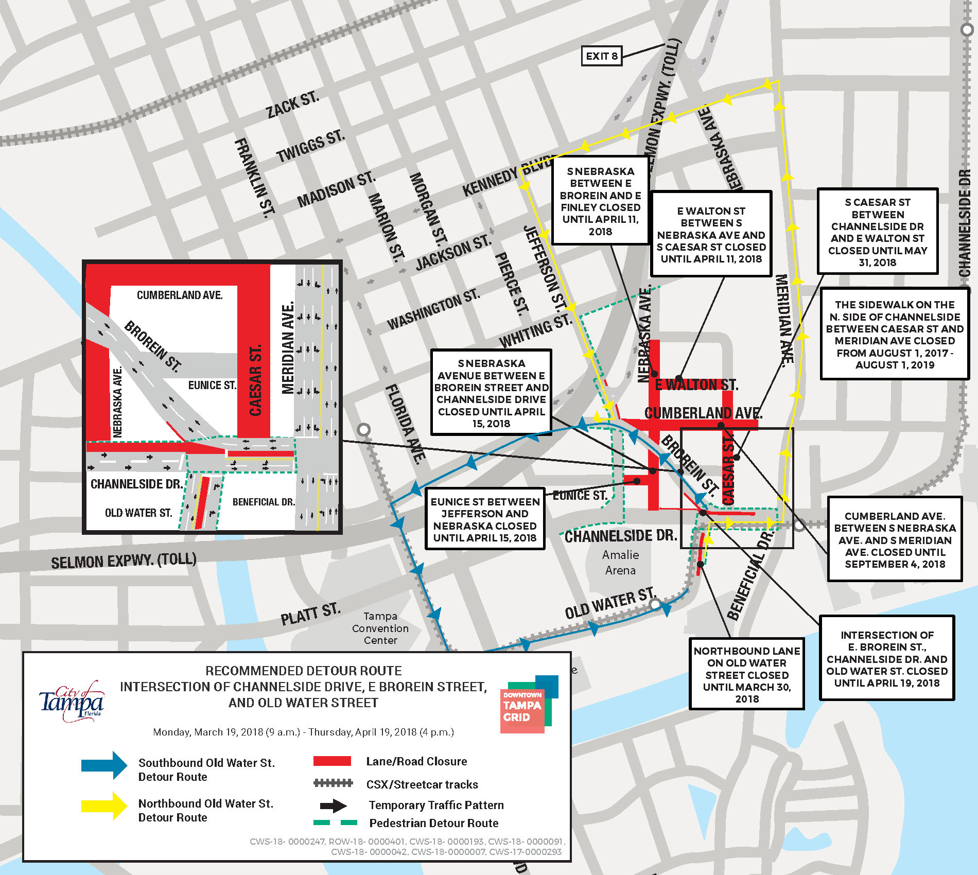 Channelside Old Water St Closure
